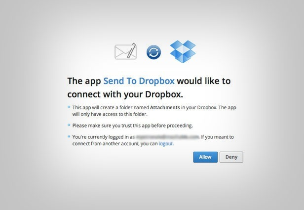 Send files to Dropbox