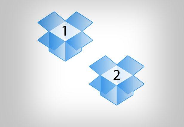 Duy trì tài khoản tại 2 Dropbox