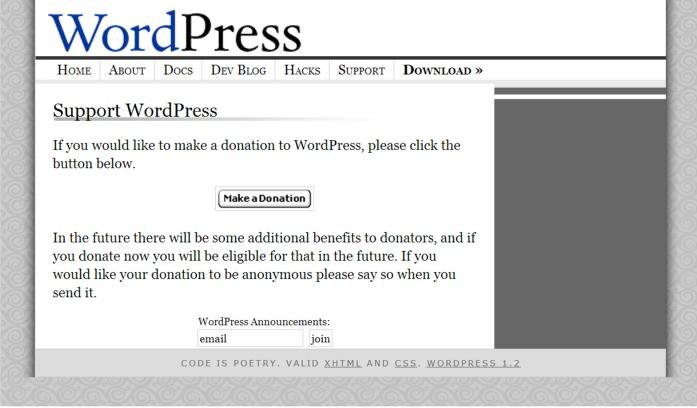 Wordpress đã nhận được rất nhiều người dùng và lập trình viên ủng hộ