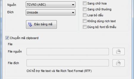 Hướng dẫn chuyển văn bản từ font chữ .vnTime sang Unicode